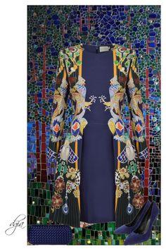 """""""Mary Katrantzou Totem Chrono Dress"""" by dgia ❤ liked on Polyvore featuring Mary Katrantzou, Lola Cruz and Bottega Veneta"""