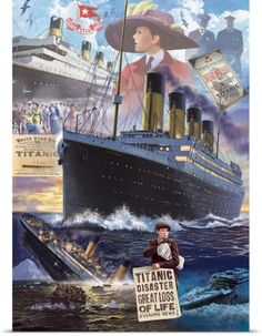 Steve Crisp Poster Print Wall Art Print entitled Titanic - Vertical, None