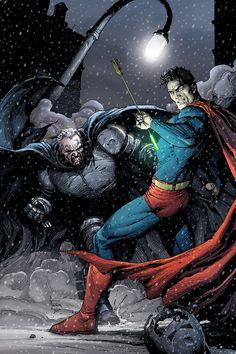 #Superman #And #Batman #Fan #Art. (The Dark Knight iii: The Master Race #1 Cover) By: Gary Frank. (THE * 5 * STÅR * ÅWARD * OF: * AW YEAH, IT'S MAJOR ÅWESOMENESS!!!™)[THANK U 4 PINNING!!<·><]<©>ÅÅÅ+(OB4E)