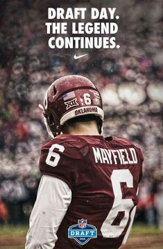 3393ecb8a Baker Mayfield Sooners NFL draft Semi Pro Football