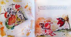 """Sfogliando la fiaba illustrata """"La Pulce Melodiosa"""". Il Sorriso di Silvia   #favole #illustration #colors #kids #ilsorrisodisilvia #art #drowing"""