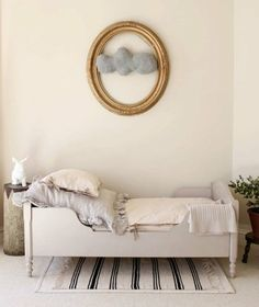 perfect kids room. greys, golds, whites!
