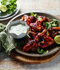 Chipotle chicken wings with dipping sauce recipe, Pete Evans :: Gourmet Traveller chicken wings recipe Chipotle Chicken Wings Recipe, Cooking Chicken Wings, Chicken Wing Recipes, Sauce Recipes, Paleo Recipes, Gourmet Recipes, Cooking Recipes, Recipes Dinner, Dinner Ideas