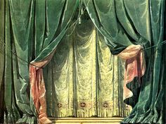 ''The Adventure of the Curtain'' - Main curtains Toy Theatre, Theatre Design, Film Stills, Slytherin, Art Inspo, Backdrops, Curtains, Decoration, Artwork