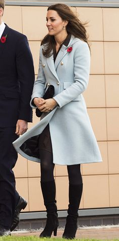 Kate Middleton's Best Maternity Outfits - Pretty in Powder Blue from #InStyle