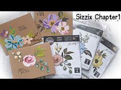 Tim Holtz Dies, Sizzix Dies, Spellbinders Cards, Scrapbook Cards, Scrapbooking, Card Sketches, Flower Tutorial, Flower Cards, Homemade Cards