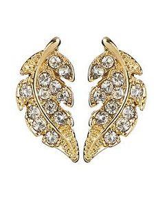 Sabine Leaf Stud Earring | Piperlime