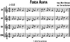 """Funga Alafia"" for marimba band                                                                                                                                                                                 Mais"