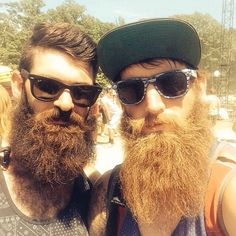 beardsftw: bearditorium: Beard meets beard [[ Follow BeardsFTW! | Tumblr | Facebook | Submit! ]]
