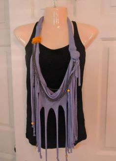 Tshirt Necklace Scarf add beads for me. Rock n roll