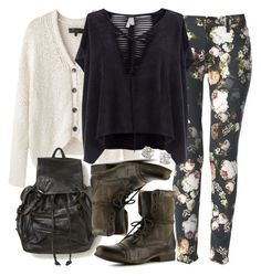 """""""Malia Inspired Fall Outfit"""" by veterization ❤ liked on Polyvore featuring rag & bone, 7 For All Mankind, Free People and Steve Madden"""