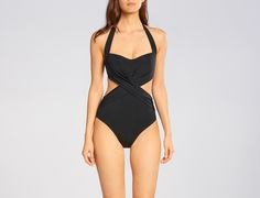 This sophisticated monokini will have you feeling like a Greek goddess, or at least booking a vacation to Santorini. The x-front design, full back and and contoured cups flatter and support your shape. Fit & Composition Molded shelf bra Wide side bands enhance shape and support Flat clip back comfort closure Best suited for B-C …