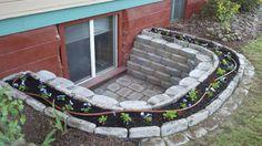 egress window well planter