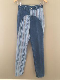 5ac08b11 Vintage Wrangler Denim/Striped Jeans Striped Jeans, Blue Jeans, Colored  Jeans, Jeans
