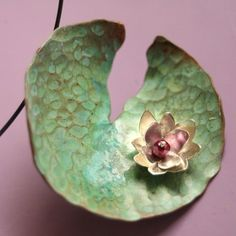 Monets Waterlily Necklace by Sudlow  This is at Ooh Ive got something to show you. It is a wonderful site.