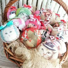 Мягкие хлопковые шары на елку.самые безопасные игрушки для детей #ручнаяработа #новыйгод2018 #ёлочныеигрушки #елочныешары #мягкиеигрушки #newyear #christmastoy #christmasdecorations #christmas