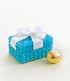 Tiffany box con perline o caramelle