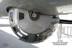 """Boeing B-17 """"Aluminum Overcast"""" - Ball Turret."""