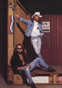 James Hetfield and Lars Ulrich - back in the good ole days!