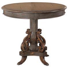 Uttermost Anya Round Pedestal Table