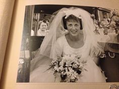 Joan in the wedding car