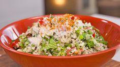 Quinoa Tabbouleh with Acai and Chia, Everyday Gourmet Gourmet Recipes, Vegetarian Recipes, Cooking Recipes, Quinoa Tabbouleh, Japanese Chicken, Superfood Recipes, Easy Cooking, Chicken Salad, Healthy Eating