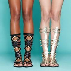 Stand tall in summer's hottest sandals: the gladiator. Which do you love, the ARISOTLE or the SPARTA?