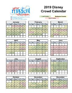 So you've decided to take a trip to Walt Disney World. Now you need to decide on when! I've come up with some easy to view Disney World crowd calendar charts that I use when talking to my guests. What are the busiest and least busy times of the year? Although special events, promotions and other unpredictable factors may influence Theme Park attendance levels, the following list highlights historic attendance trends throughout the year.