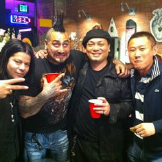 Mithra's Rick Li with Jess Yen and Roman Abrego.