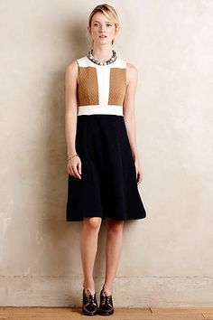 Cabled Colorblock Dress - #anthroregistry