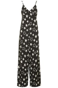 **Star Print Strappy Wide Leg Jumpsuit by Rare
