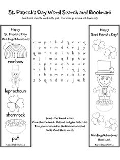 St. Patrick's Day Printable Activities & Crafts on Pinterest | St ...