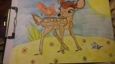 Bambi draw #Bambi #disney #disneyworld #draw #pic