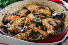 This classic Italian Chicken Marsala is full of mushrooms and sweet marsala wine and is perfect for a quick weeknight meal!