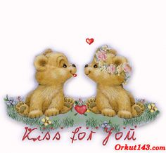 Sweet teddy kisses for you