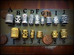 2 Bead kit Dwarvish Beard Bead kit LOTR Tolkien by Dwarvendom