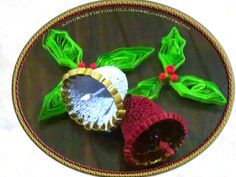 *QUILLING ~ A Journey into Quilling & Paper Crafting- Quilled bells and Holly