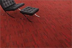Straight Talk 2.0 is one of Milliken's best performing collections to-date and one of the most affordable commercial carpet collections in Milliken's product offering. (Eye Contact_Room Scene_EC512 Madder)
