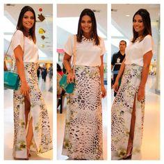 BalaiodeNovidades.com: Meu look saia Longa com fenda!