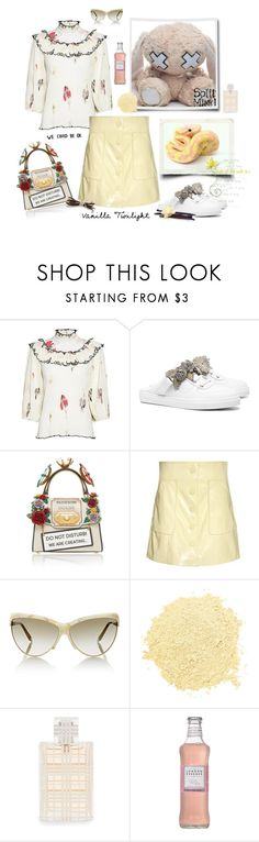 """""""Frozen vanilla. The bunny facing the snake..."""" by juliabachmann ❤ liked on Polyvore featuring Ganni, Sophia Webster, Dolce&Gabbana, Victoria Beckham and Burberry"""