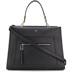 Fendi Runaway tote (141.305 RUB) ❤ liked on Polyvore featuring bags, handbags, tote bags, black, leather tote handbags, leather tote, fendi tote, genuine leather handbags and fendi purse