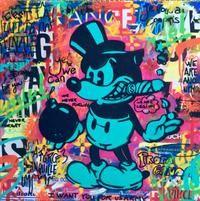 Browse art at Art'Place Vincent Richeux, Outsider Art, Pop Art, Minnie Mouse, Disney Characters, Fictional Characters, Wrestling, Toile, Paint