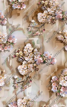 Textile Prints, Textile Design, Fabric Design, Fabric Patterns, Print Patterns, Fabulous Fabrics, Printed Sarees, Abstract Flowers, Surface Pattern Design