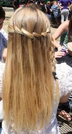 Blonde Waterfall Braid - Hairstyles and Beauty Tips