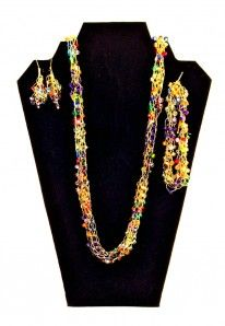 made with the French Knitter Bead Jewelry Maker. I Love It!!!