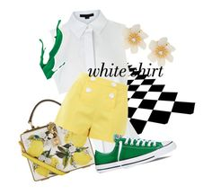 White Shirt by dmlougheed on Polyvore featuring polyvore fashion style Alexander Wang Boutique Moschino Converse Dolce&Gabbana Lydell NYC clothing WardrobeStaples