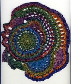 Un Nouveau Scrumble Pour Mon Projet - Easy Crochet - Diy Crafts Art Au Crochet, Col Crochet, Crochet Diy, Crochet Amigurumi, Crochet Motifs, Freeform Crochet, Tunisian Crochet, Irish Crochet, Crochet Shawl