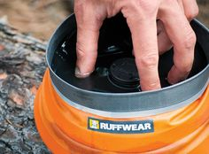 Ruffwear Bivy Bota™ Collapsible Water Reservoir and Dog Bowl As my friend Evan already knows, this thing is genius: It is a canteen, and a collapsible travel bowl.