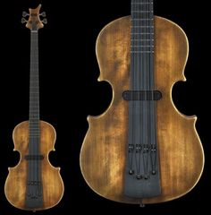 Jens Ritter upright shaped electric bass