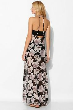 Pins And Needles Floral T-Back Maxi Slip